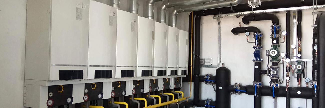 Property maintenance London. Gas installations. Boilers in maintenance area of apartment.